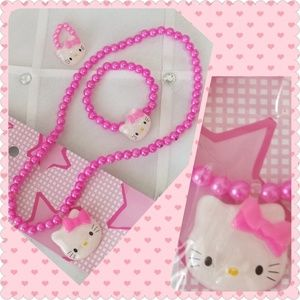 Hello Kitty 3 piece Pink set Fashion Jewelry